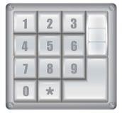 Numerisches digitales Sicherheitsschloss stock abbildung