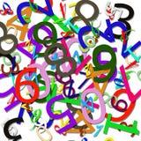 Numerisches Muster stock abbildung