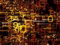 Numerisches Netz lizenzfreie abbildung