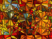 Numerisk målat glass Arkivbild