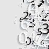 Numerisk pappersabstrakt begreppbakgrund Arkivfoto