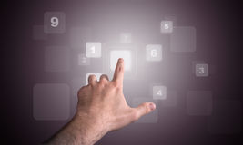 numerisk tuch för tangentbord Arkivbilder