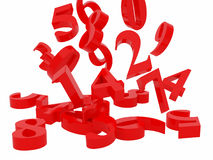 numeriska symboler Arkivfoton