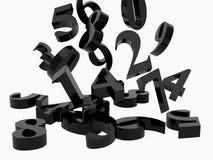 numeriska symboler Arkivbild
