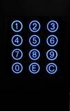 numeriskt tangentbord Arkivbild