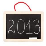 Numero 2013 sulla piccola lavagna Fotografie Stock