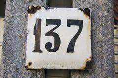 Numero 137 Fotografie Stock