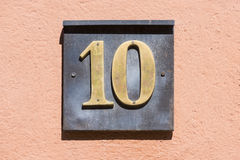 Numero 10 Fotografia Stock Libera da Diritti