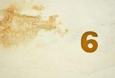 Numero 6 Fotografia Stock