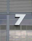 Numero 7 Fotografie Stock