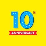 Numero blu dei moderns e piacevole per le celebrazioni e gli anniversari Fotografia Stock