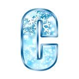 Numero C di alfabeto di inverno Fotografie Stock