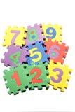 Numero che impara i blocchi Immagini Stock