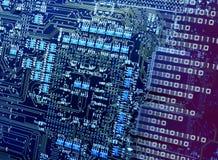 Numero che rompe i circuiti del CPU Fotografia Stock Libera da Diritti