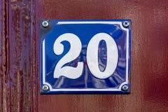 Numero civico 20 fotografia stock libera da diritti