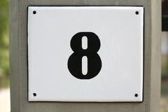 Numero civico 8 Immagine Stock