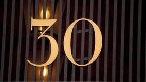 Numero civico 30 Fotografie Stock Libere da Diritti