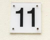 Numero civico 11 Fotografia Stock