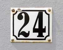 Numero civico 24 Fotografia Stock