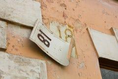 Numero civico 18 Fotografia Stock Libera da Diritti