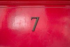 Numero civico bronzeo 7 Fotografia Stock Libera da Diritti
