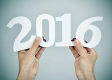 Numero 2016, come il nuovo anno Fotografia Stock