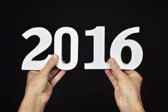 Numero 2016, come il nuovo anno Fotografia Stock Libera da Diritti