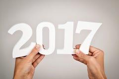 Numero 2017, come il nuovo anno Fotografia Stock