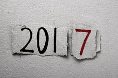 Numero 2017, come il nuovo anno Immagine Stock