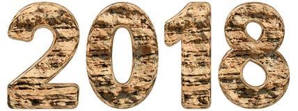Numero 2018 con una superficie astratta da un calcare naturale, Immagine Stock