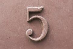 Numero d'annata cinque Fotografia Stock Libera da Diritti