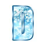 Numero D di alfabeto di inverno Fotografia Stock