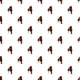 Numero 4 dall'alfabeto latino fatto di cioccolato illustrazione vettoriale