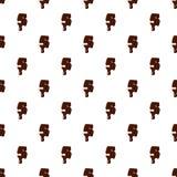 Numero 5 dall'alfabeto latino fatto di cioccolato illustrazione di stock