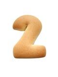 Numero del biscotto Fotografia Stock