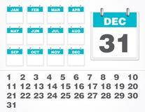 Numero del calendario di vettore Fotografia Stock