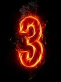 Numero del fuoco Fotografia Stock