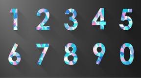 Numero del poligono fissato su fondo nero Fotografie Stock