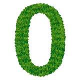 Numero 0 dell'erba Immagini Stock