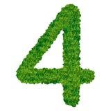 Numero 4 dell'erba Fotografia Stock