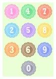 Numero dell'icona Fotografie Stock