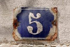 Numero della Camera Fotografie Stock
