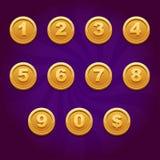 Numero della moneta del gioco Fotografie Stock Libere da Diritti