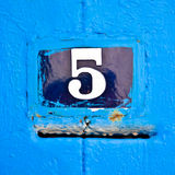 Numero della porta Immagine Stock