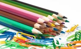 Numero delle matite colorate Fotografia Stock Libera da Diritti