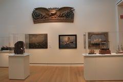Numero delle pitture e delle sculture in una di molte stanze, museo di Peabody Essex, Salem, Massachussets, 2017 Fotografie Stock