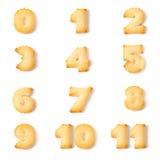 Numero di alfabeto della fonte del biscotto Immagini Stock