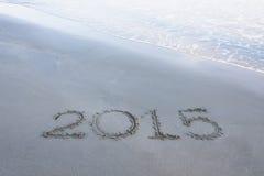 Numero di anno 2015 Fotografia Stock Libera da Diritti
