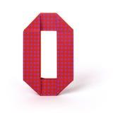 Numero di carta zero di origami Fotografia Stock Libera da Diritti