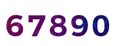Numero di fonte variopinto astratto alfabeto del triangolo Fotografie Stock Libere da Diritti